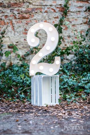 60cm svítící číslice 2