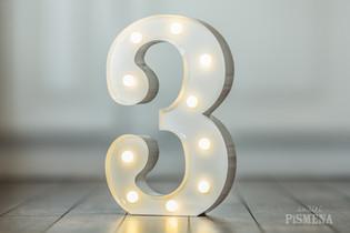 30cm svítící číslice 3