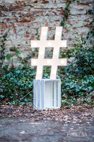 """60cm symbol """"hashtag"""""""