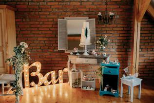 60cm svítící spojený nápis Bar