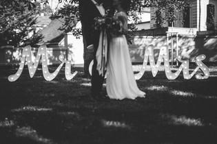 90cm spojený nápis Mr & Mrs