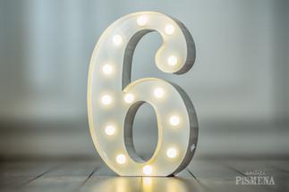 30cm svítící číslice 6
