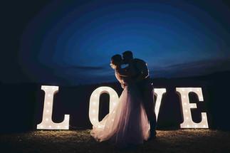 Svítící písmena LOVE 90cm na elektřinu.