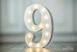 30cm svítící číslice 9