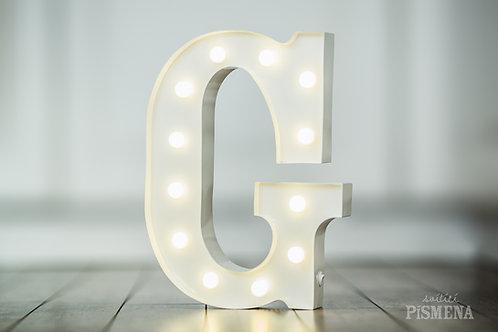 Kovové svítící písmeno G
