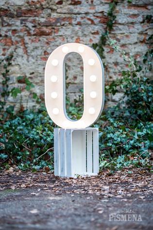 60cm svítící číslice 0