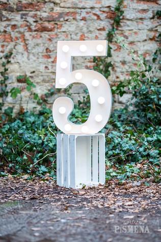 60cm svítící číslice 5