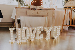 30cm svítící písmena I LOVE YOU