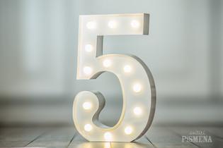 30cm svítící číslice 5