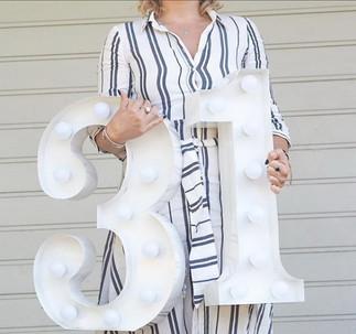 60cm svítící číslice 31