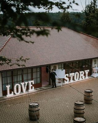 90cm svítící písmena LOVE STORY
