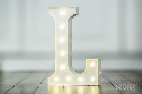 Kovové svítící písmeno L