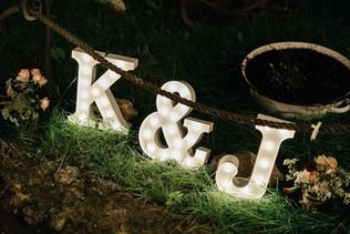 30cm svítící písmena na svatbu