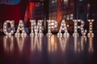 30cm svítící písmena CAMPARI