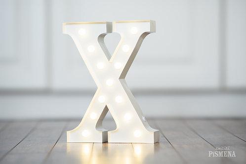 Kovové svítící písmeno X