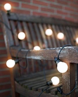 Světelné led řetězy matné k napojení na oslavy a eventy k pronájmu