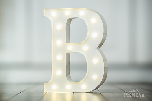Kovové svítící písmenko B