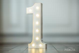 30cm svítící číslice 1