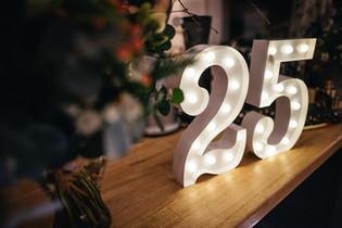 30cm svítící číslice 25