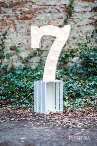 60cm svítící číslice 7