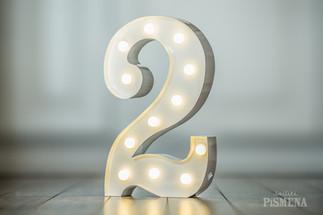30cm svítící číslice 2