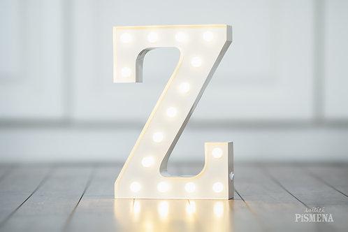 Kovové svítící písmeno Z