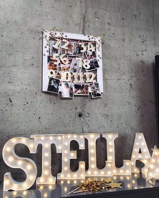 30cm svítící písmena STELLA