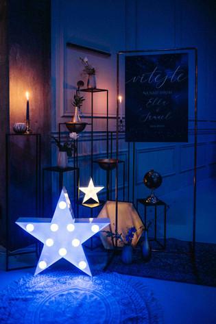 60cm symbol hvězdy s barevnými led žárovkami