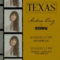 Andrea Cruz SXSW Showcase Flier 2020