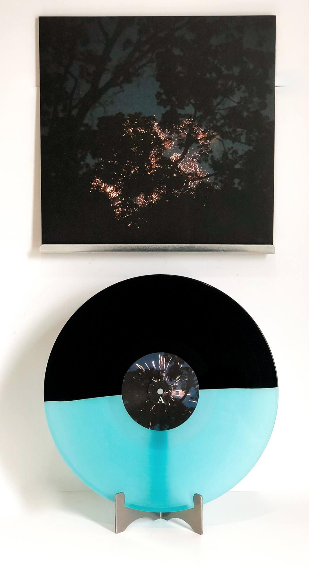 Vinyl Record Variant - Half black and half seafoam green - Gleemer Down Through