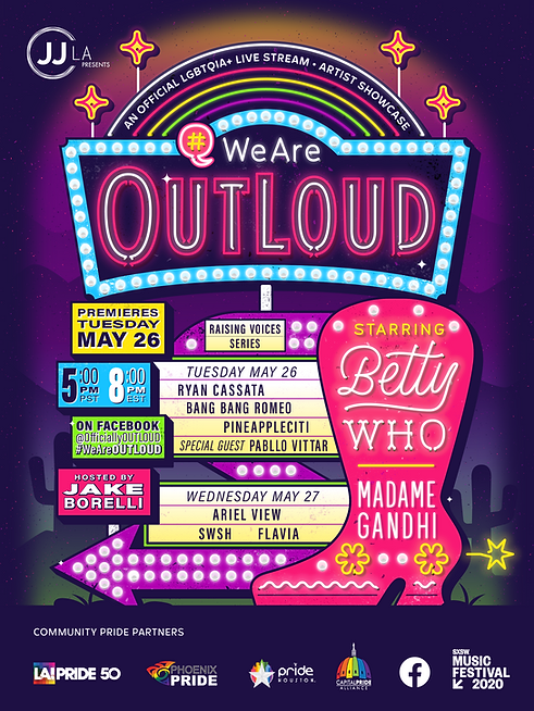 Pride concert series OUTLOUD to launch exclusively on Facebook