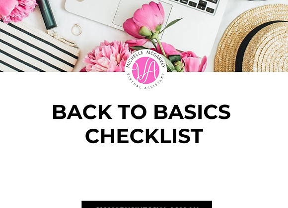 Back to Basics Checklist