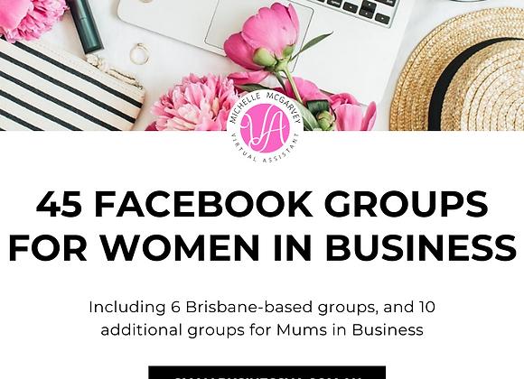 45 Facebook Groups for Women in Business (inc FREE bonus)