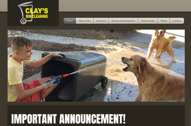 Website Homepage Example 9, Clays Bin Cleaning
