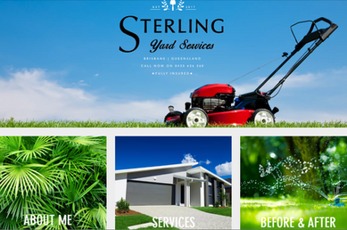 Website Homepage Example 3, Sterling Yard Services