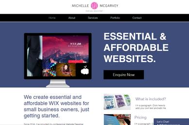 Website Homepage Example 2, Small Business VA