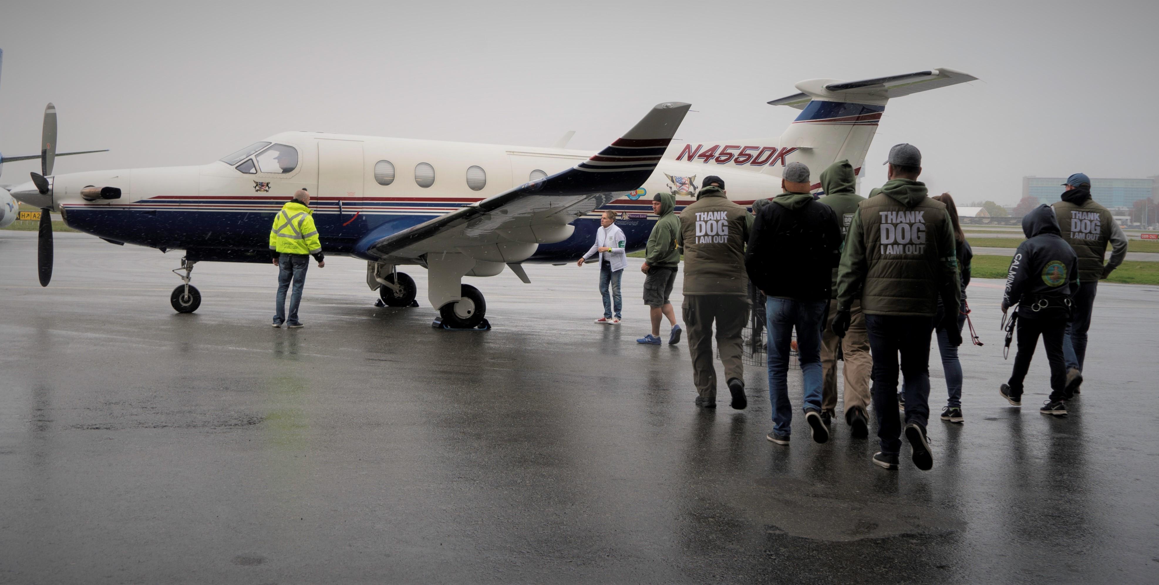 Plane at YVR people