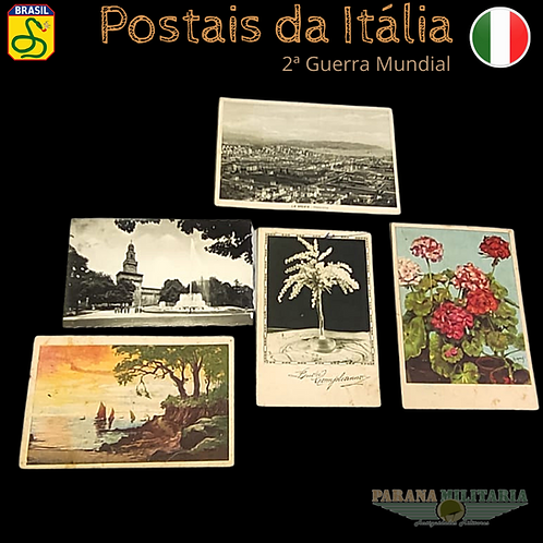 Lote 5 Cartões-postais da Itália 1940 - 2ª Guerra Mundial