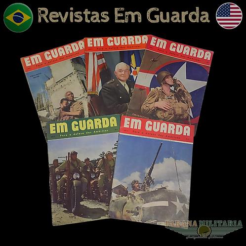 """Lote com 5 revistas """"Em Guarda"""" - 2ª Guerra Mundial"""