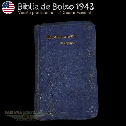 Bíblia de Bolso Soldado EUA - Ano 1943