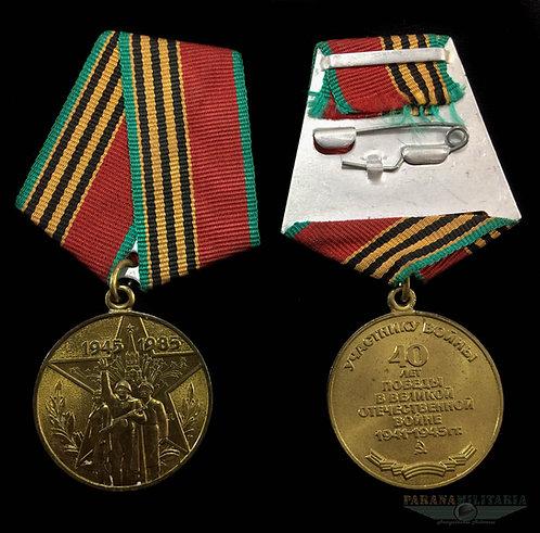 Medalha Soviética 40 anos da Vitória 2ª Guerra Mundial
