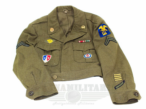 """Jaqueta Ike Americana """"Corpo de Engenheiros"""" - 2ª Guerra Mundial"""