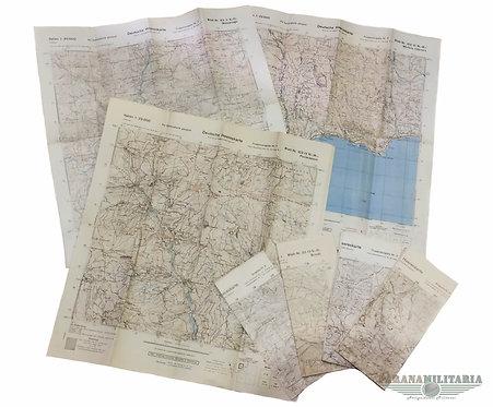 Lote de Mapas Alemães - 2ª Guerra Mundial