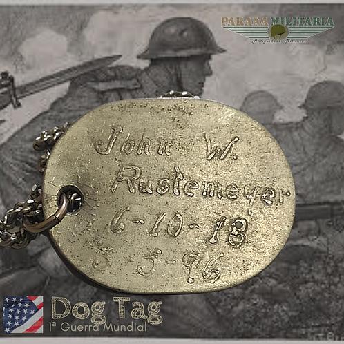 Dog Tag USNRF  John W. - 1ª Guerra Mundial