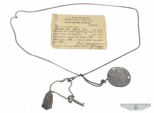 Dog Tag USNR Pearl Harbor - 2ª Guerra Mundial