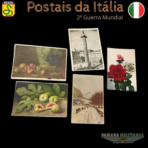 Lote 5 Cartões-postais da Itália 1942 - 2ª Guerra Mundial