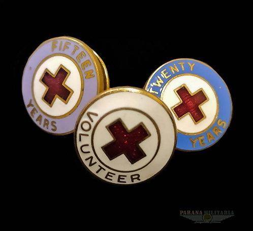 Pins Voluntário da Cruz Vermelha Americana - Guerra do Vietnã