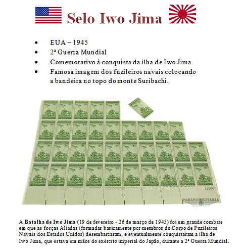 Selo Americano Batalha Iwo Jima 1945 2ª Guerra Mundial