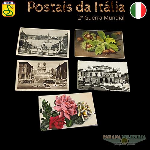 Lote 5 Cartões-postais da Itália  - 2ª Guerra Mundial