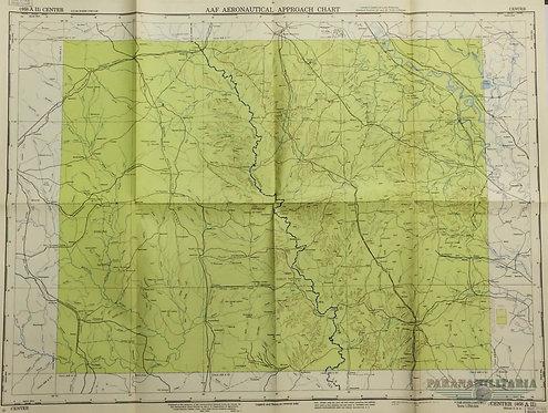 Mapa Aeronáutico 1945 - Região Central EUA Texas